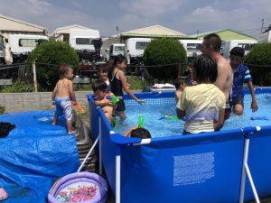 子供とプール